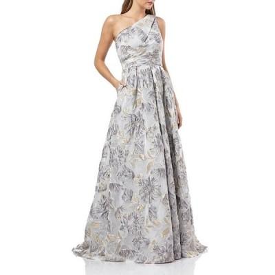 カルメンマークヴァルヴォ レディース ワンピース トップス One Shoulder Floral Embroidery Organza Ball Gown