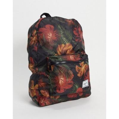 ハーシェル サプライ Herschel Supply Co レディース バックパック・リュック バッグ Herschel Floral Print Backpack In Black ブラック