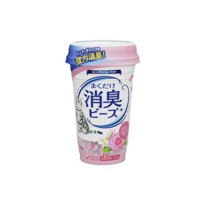 ユニチャーム 猫トイレまくだけ 香り広がる 消臭ビーズ やさしいピュアフローラルの香り 450ml