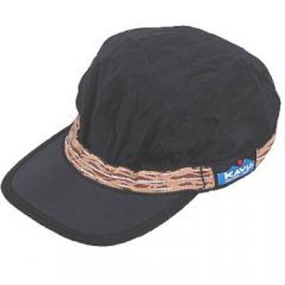KAVUKAVU 帽子・防寒・エプロン シンセティック ストラップ キャップ  M  ブラック