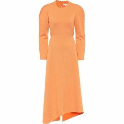 ティビ Tibi レディース パーティードレス ミドル丈 ワンピース・ドレス Asymmetric Knit Midi Dress Orange