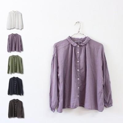 【SUNVALLEYサンバレー】ふんわり綿ボイルシャツ