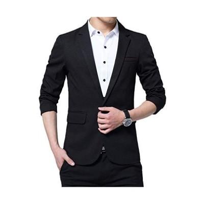 テーラードジャケット メンズ ファッションスーツ コート トップス ビジネス ストレッチ スリム 長袖 無地 細身 ブラック 結婚式 パーテ
