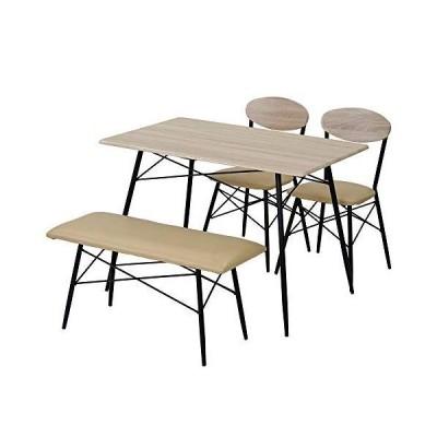 ダイニングセット ダイニングテーブル 4点セット 4人掛け ベンチ 木製 ナチュラル