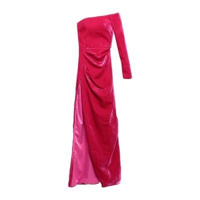RASARIO ロングワンピース&ドレス ガーネット 34 レーヨン 60% / シルク 40% ロングワンピース&ドレス