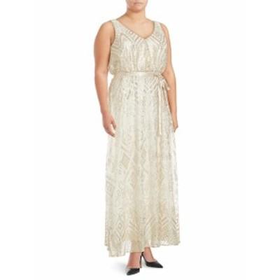 アイザックミズラヒ レディース ワンピース Sequined Sleeveless Gown