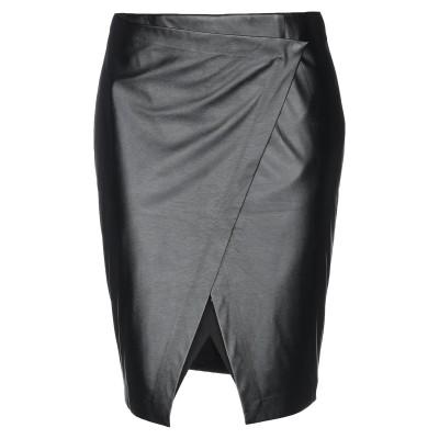 シルビアンヒーチ SILVIAN HEACH ひざ丈スカート ブラック XXS ポリウレタン 100% / レーヨン / ナイロン / ポリウレタン
