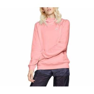 ナイキ レディース パーカー・スウェット アウター Nike Women's Sportswear Essential Funnel Neck Fleece Hoodie Bleached Coral