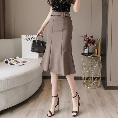 (購入オススメ)タイトスカートを包む女性の夏の中でロングスカートのキャリア気質スーツのスカートの上半身を包んで、腰が高くて痩せた魚の尾のスカートが現れます
