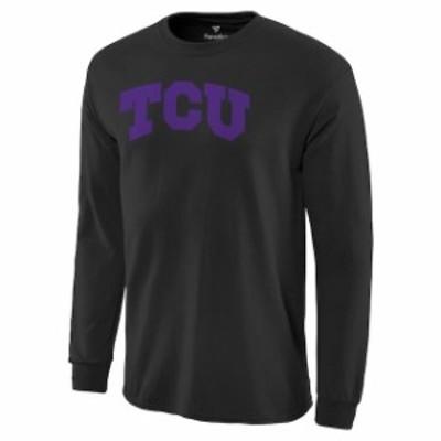 Fanatics Branded ファナティクス ブランド スポーツ用品  TCU Horned Frogs Black Basic Arch Long Sleeve T-Shirt