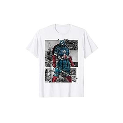 Marvel Captain America Samurai Comic Scenes Graphic T-Shirt