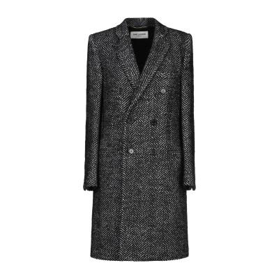 SAINT LAURENT コート ブラック 40 ウール 98% / ナイロン 2% コート