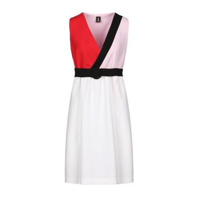 1-ONE ミニワンピース&ドレス アイボリー 40 ポリエステル 93% / ポリウレタン 7% ミニワンピース&ドレス