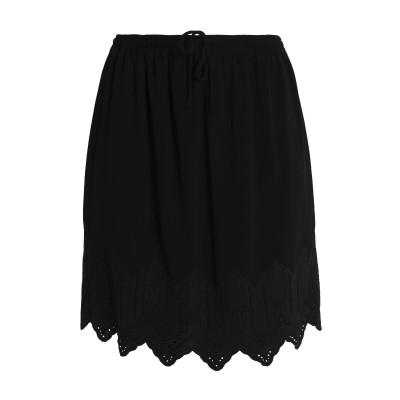 イロ IRO ひざ丈スカート ブラック 34 レーヨン 100% ひざ丈スカート