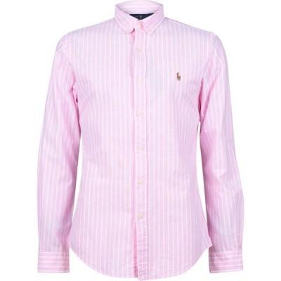 ラルフ ローレン Polo Ralph Lauren メンズ シャツ スリム ワイシャツ トップス Slim Fit Oxford Striped Shirt Pink/White
