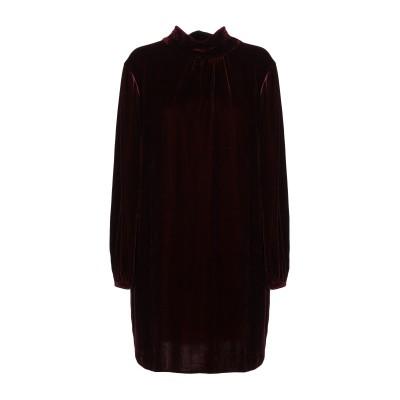 ANTONELLI ミニワンピース&ドレス ボルドー 42 レーヨン 82% / シルク 18% ミニワンピース&ドレス