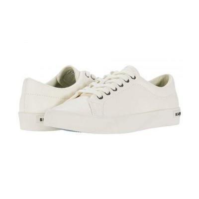 SeaVees シービーズ レディース 女性用 シューズ 靴 スニーカー 運動靴 Gallery Sneaker Tumbled Leather - White