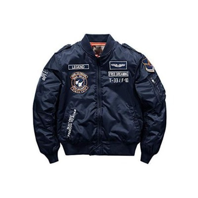 SemiAugust(セミオーガスト)ジャケット メンズ MA-1 フライトジャケット 中綿 ジャンパー 刺繍 ワッペン ミリタリ