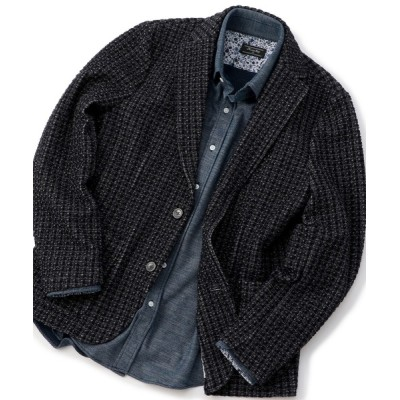 MEN'S BIGI / ストレッチチェック柄カットジャケット MEN ジャケット/アウター > テーラードジャケット