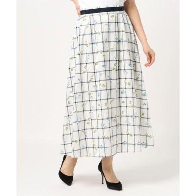 スカート マルチフラワープリントスカート