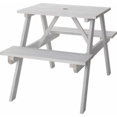 東谷 ODS-91WH テーブル&ベンチ W75 (ホワイト)[ODS91WH]【返品種別A】
