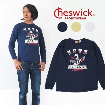 チェスウィック CHESWICK 長袖 Tシャツ ロードランナー プリント VOTE  MADE IN USA  ch68116