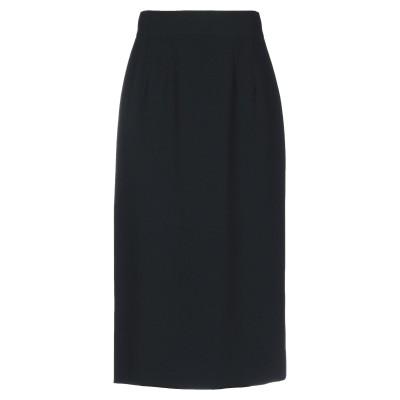 ドルチェ & ガッバーナ DOLCE & GABBANA 7分丈スカート ブラック 40 レーヨン 51% / アセテート 46% / ポリウレタン