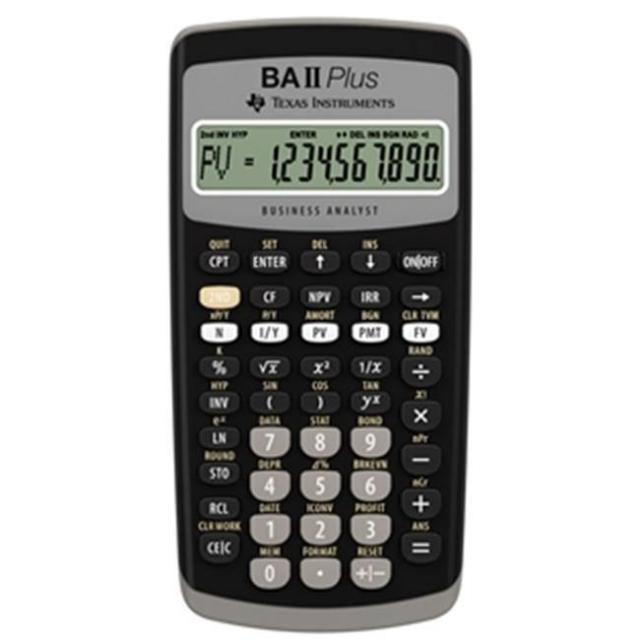 TI BA II PLUS專業財務計算機(德州儀器)