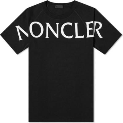 モンクレール Moncler メンズ Tシャツ ロゴTシャツ トップス macro text logo tee Black