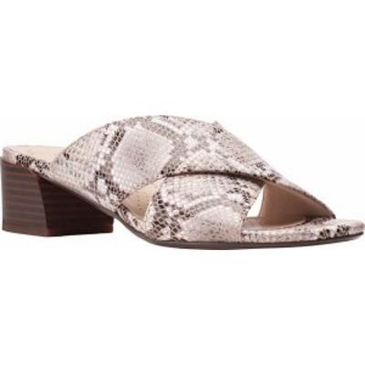 クラークス レディース サンダル シューズ Women's Clarks Caroleigh Erin Slide Natural Snake Synthetic/Leather