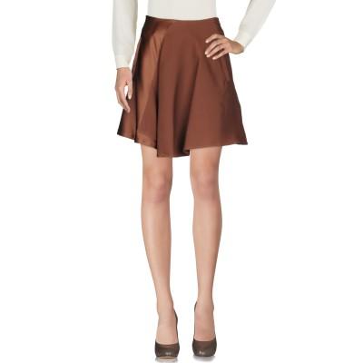 ブルネロ クチネリ BRUNELLO CUCINELLI ひざ丈スカート ダークブラウン 42 シルク 94% / ポリウレタン 6% ひざ丈スカート
