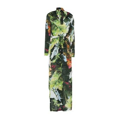 ブルーガール ブルマリン BLUGIRL BLUMARINE ロングワンピース&ドレス グリーン 42 レーヨン 100% ロングワンピース&ドレス