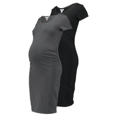 アンナ フィールド ママ レディース ワンピース トップス 2 PACK - Shift dress - black/grey black/grey