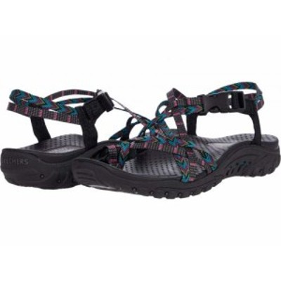 SKECHERS スケッチャーズ レディース 女性用 シューズ 靴 サンダル Reggae Islander Black Multi【送料無料】