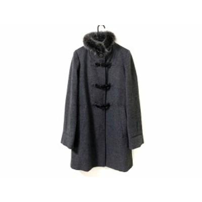 ダブリュービー wb コート サイズ38 M レディース - ダークグレー×黒 長袖/冬【中古】20201028
