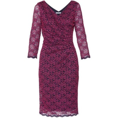 ジーナ バッコーニ Gina Bacconi レディース ワンピース ワンピース・ドレス Emery Lace Wrap Dress Fuchsia