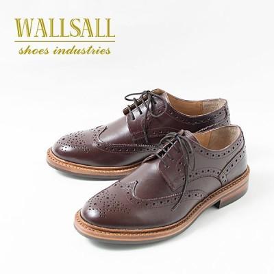WALLSALL WING TIP FULL BROGUE ウィングチップ フルブローグ 革靴 レザーシューズ WINE