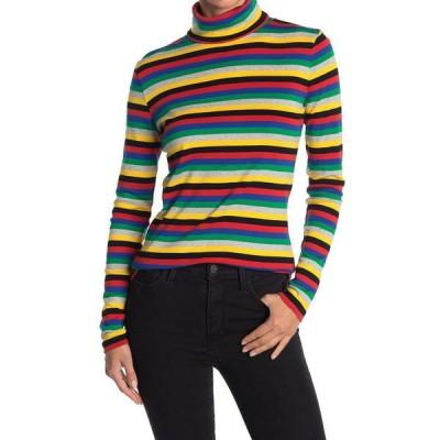 ガニー レディース Tシャツ トップス Roll Neck Long Sleeve Stripe Sweater Top MULTICOLOUR