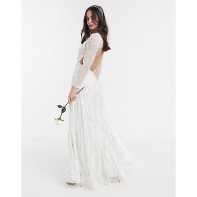 エイソス レディース ワンピース トップス ASOS EDITION Charlotte nouveau embellished maxi wedding dress