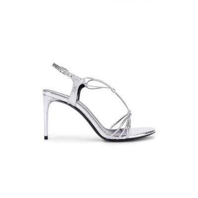 イヴ サンローラン Saint Laurent レディース サンダル・ミュール シューズ・靴 robin lace sandals Silver