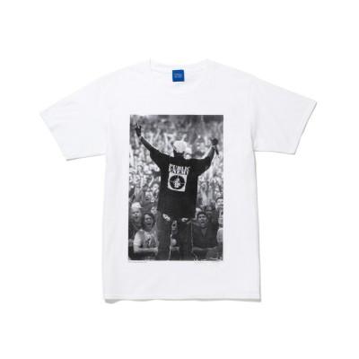 【ボンジュールレコード】 Public Enemy/パブリック・エネミー Tシャツ ユニセックス ホワイト L bonjour records