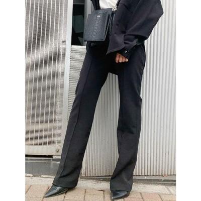 ジェイダ GYDA ピンタック ストレートパンツ (ブラック) 【セットアップ対応】