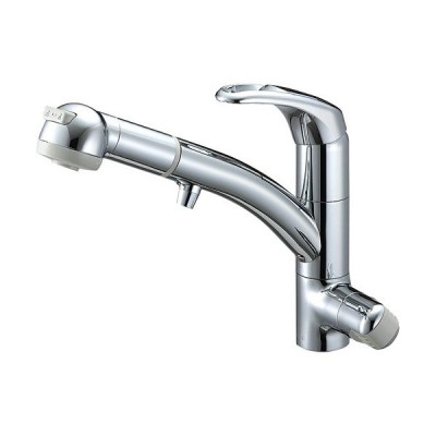 三栄水栓/SANEI 水栓金具【K8767JV2-7S-C-13】シングルワンホールスプレー混合栓(浄水器兼用)