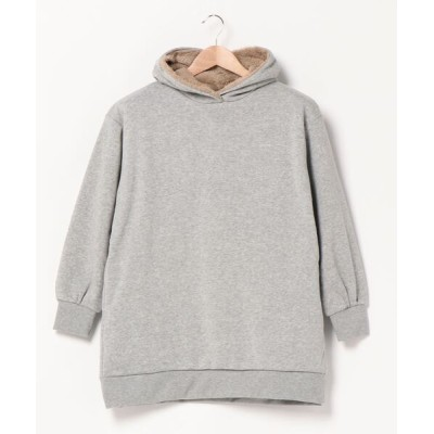 JEANS MATE / 【OUTDOOR PRODUCTS】身頃ボアチュニック丈 パーカー  ワイドシルエット/ビッグシルエット WOMEN トップス > パーカー