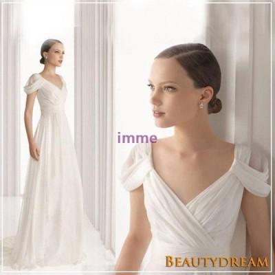 パーティードレス二次会、トレーンライン、結婚式、エレガント、可愛い、V襟、ステージ衣装hs2993