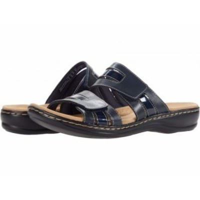 Clarks クラークス レディース 女性用 シューズ 靴 サンダル Leisa Zoe Navy Leather/Synthetic Combination【送料無料】