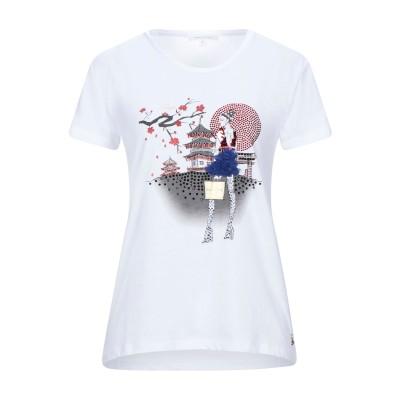 パトリツィア ペペ PATRIZIA PEPE T シャツ ホワイト 1 コットン 100% / ポリエステル / ガラス T シャツ