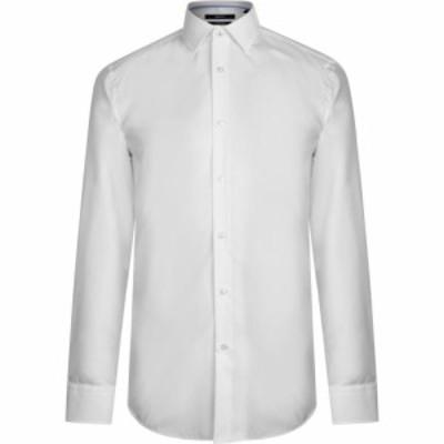 ヒューゴ ボス Boss メンズ シャツ トップス Slim Fit Easy Iron Shirt White