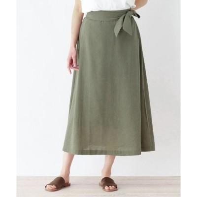 HusHusH / ハッシュアッシュ 【洗濯機OK】リボンベルトロングスカート