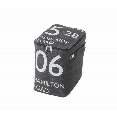 キャンパス生地 収納 ボックス 蓋つき 小物入れ 雑貨 ストレージボックス ハーフブラック 黒 東谷 FKG-259BK アメリカン 雑貨 在宅ワーク 模様替え
